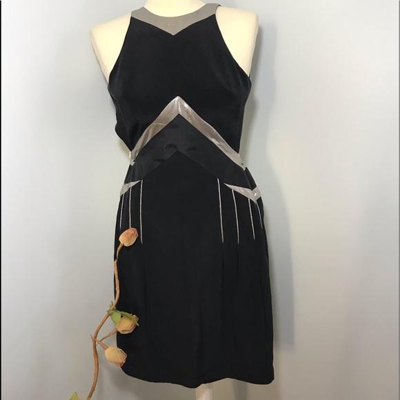 Sass Bide Dresses Sassbide Black Silver Dress Poshmark